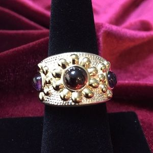 Ross-Simons silver ring with amethyst stones